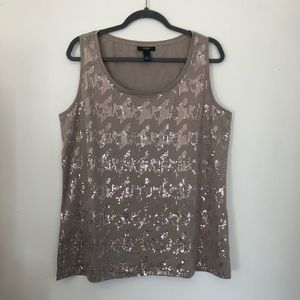 3/$12    Plus Size Sequin Tank
